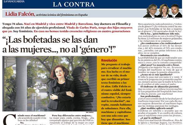 """""""Las bofetadas se las dan a las mujeres, no al género"""""""