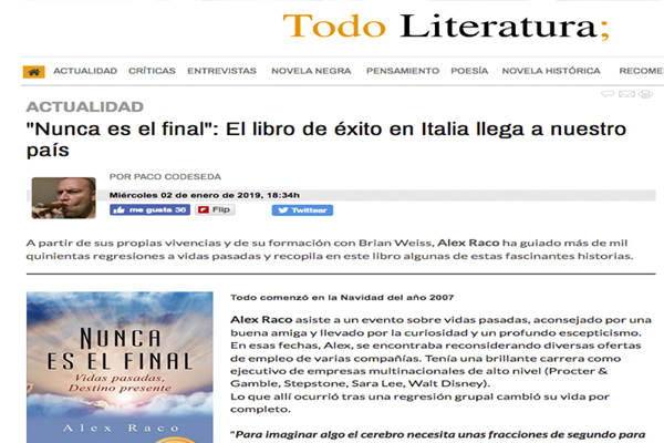 """""""Nunca es el final"""": El libro de éxito en Italia llega a nuestro país"""