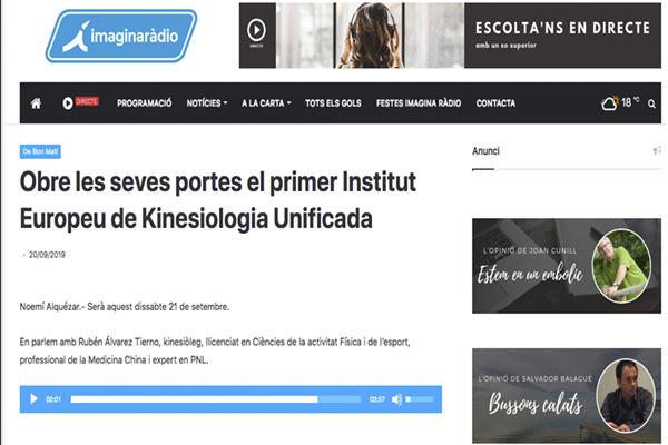 Obre les seves portes el primer Institut Europeu de Kinesiologia Unificada