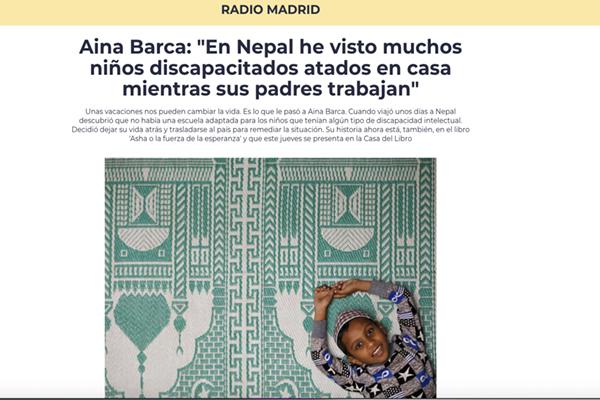 """""""En Nepal he visto muchos niños discapacitados atados en casa mientras sus padres trabajan"""""""