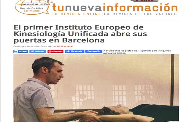 El primer Instituto Europeo de Kinesiología Unificada abre sus puertas en Barcelona