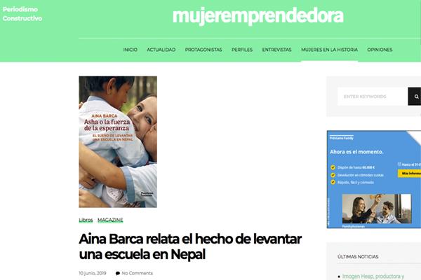 Aina Barca relata el hecho de levantar una escuela en Nepal