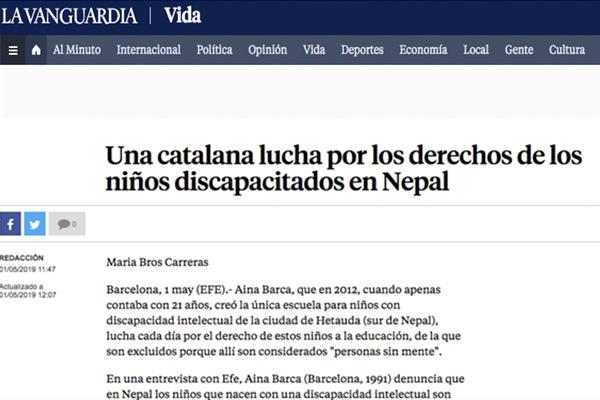 Una catalana lucha por los derechos de los niños discapacitados en Nepal