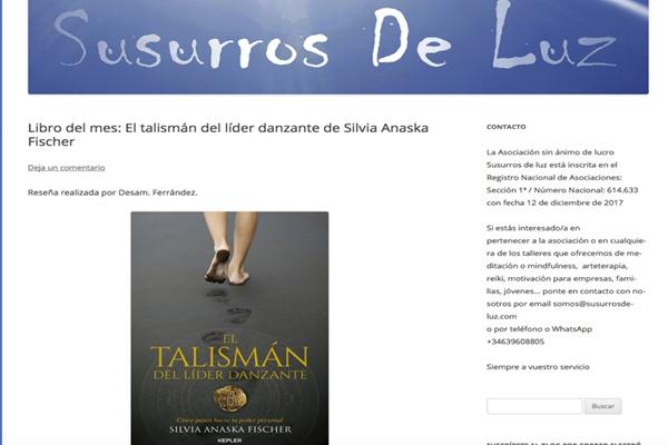 Libro del mes: El talismán del líder danzante de Silvia Anaska Fischer