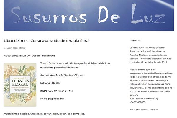 Libro del mes: Curso avanzado de terapia floral