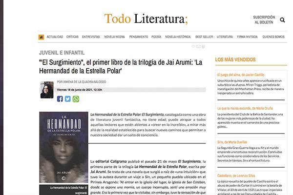 """""""'El Surgimiento"""", el primer libro de la trilogía de Jai Arumi: 'La Hermandad de la Estrella Polar'"""